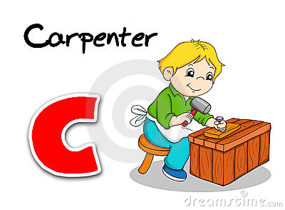 Alphabet workers - carpenter