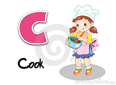 Alphabet workers - cook
