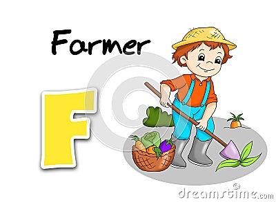 Alphabet workers - farmer