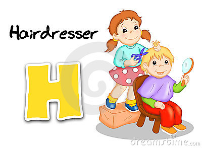 Alphabet workers - hairdresser