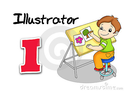 Alphabet workers - illustrator