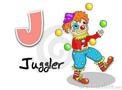Alphabet workers - juggler