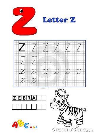 Alphabet, zèbre