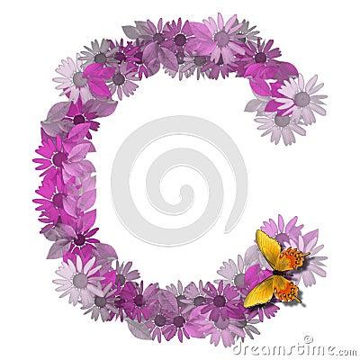 Alphabetical letter consonant C