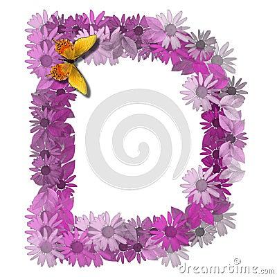 Alphabetical letter consonant D