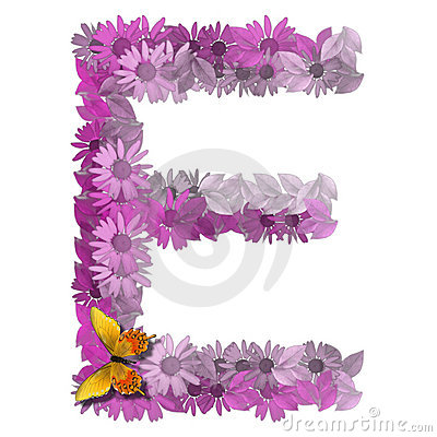 Alphabetical letter vowel E