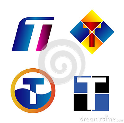 Alphabetical logo design concepts letter t stock vector for Letter t decoration