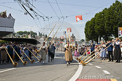 Alphorn band Editorial Image