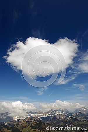 Alpine cloudburst