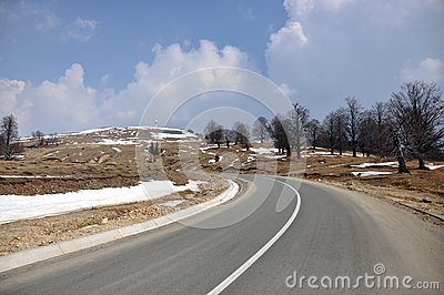 Alpine curved road