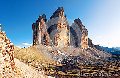 Alpine dolomit - Tre Cime mountain