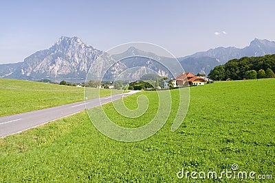 Alpine farm land