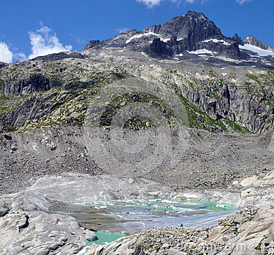 Free Alpine Glacier Melt Royalty Free Stock Photos - 92395868