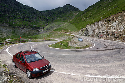 Alpine highway Transfagarasan in Romania