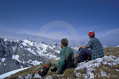 Alpine hikers