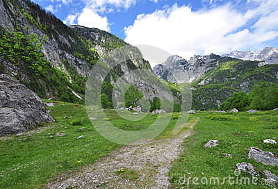 Alpine Hiking Trail Royalty Free Stock Photos - Image: 26173748