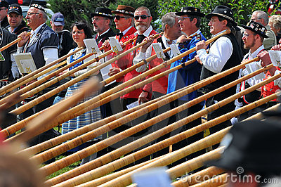 Alpine Horn Festival Editorial Photography
