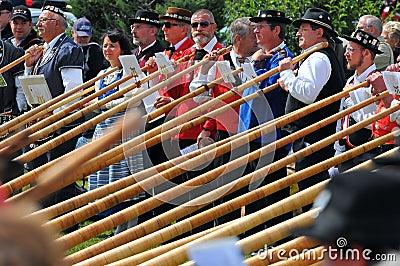 Alpine Horn Festival Editorial Photography