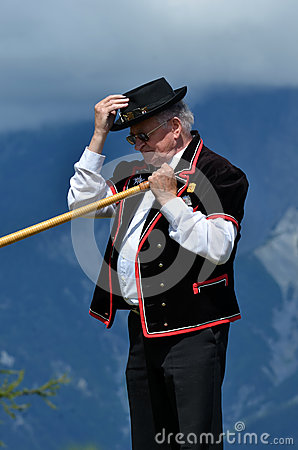 Alpine Horn Festival Editorial Photo