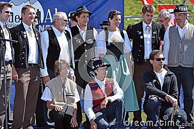 Alpine Horn Festival Editorial Stock Photo