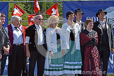 Alpine Horn Festival Editorial Stock Image
