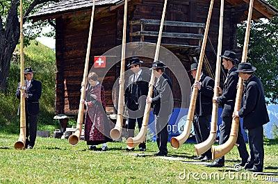 Alpine Horn Festival Editorial Image