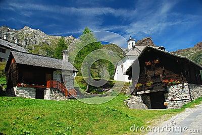 Alpine idyllic landscape. Alpe Devero, Italy