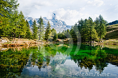 Alpine lake - Cervino Matterhorn