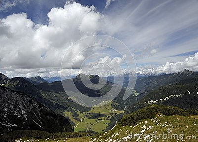 Alpine landscape and beautiful skies