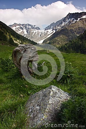 Alpine Landscape In The Summer Royalty Free Stock Images - Image: 26453989