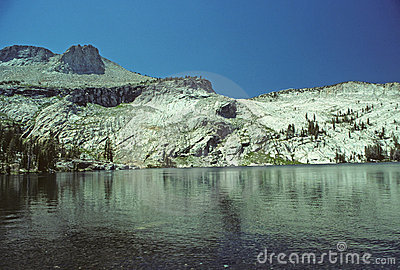 Alpine Mountain and lake