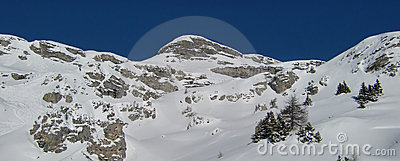 Alpine mountains scenic