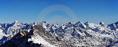 The Alpine panorama