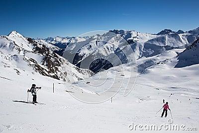 Overlooking Ischgl Ski Resort Editorial Stock Photo