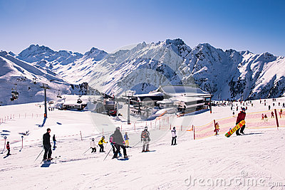 Overlooking Ischgl Ski Resort Editorial Stock Image