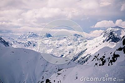 Overlooking Ischgl Ski Resort