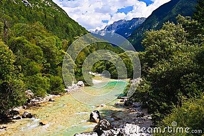 Alpine river, Slovenia