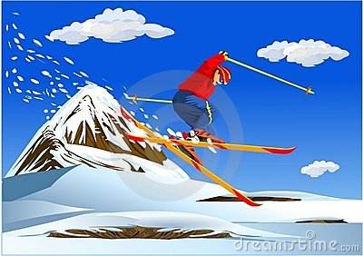 Alpine Skiing-illustrations