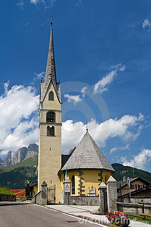 Alpine small church