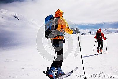 Alpine touring skiers