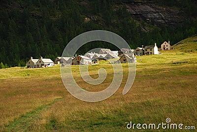 Alpine typical architecture, Alpe Veglia.