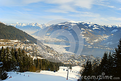 Alpine view to Zell am See