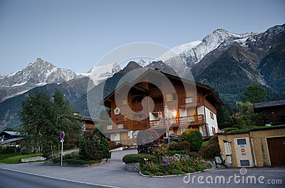 Alpine village Editorial Image