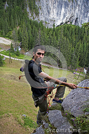 Free Alpinist - Loving Danger Stock Photography - 29469012
