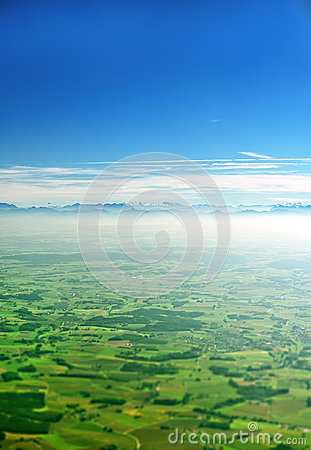 Free Alps And Farmlands In Germany. Stock Photography - 89743532