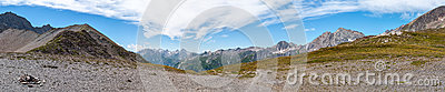 Alps, France (Col de Seigne) - Panorama