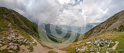 Alps, France (Col de Tricot) - Panorama