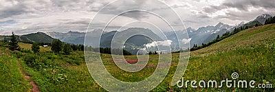 Alps, France (Col de Voza) - Panorama