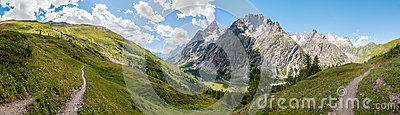 Alps, France (by Courmayeur) - Panorama
