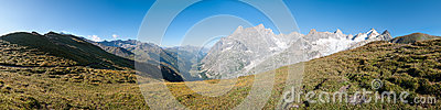 Alps, France (Grand Col Ferret) - Panorama